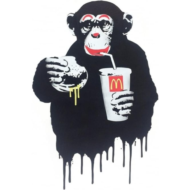Fast Food Monkey Mc Donalds