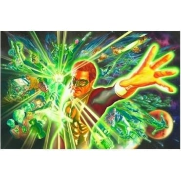Green Lantern and the Power Ring (canvas)