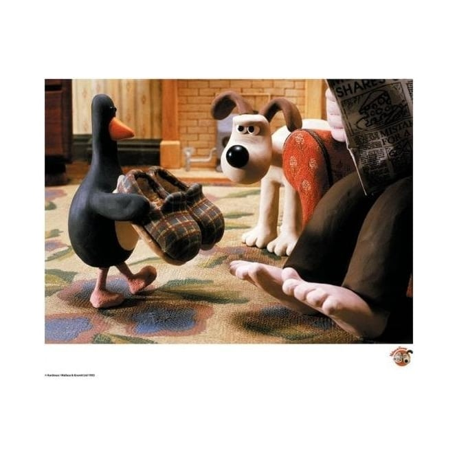 Heres Feathers - Wallace and Gromit