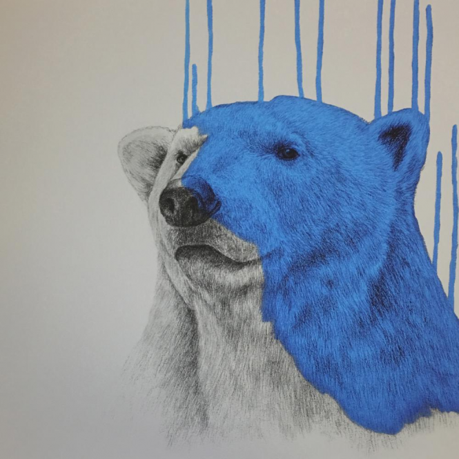 Louise McNaught - Hey There, Polar Bear - Blue