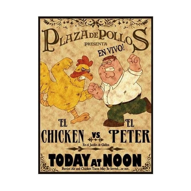Peter vs The Chicken - NEARLY SOLD OUT