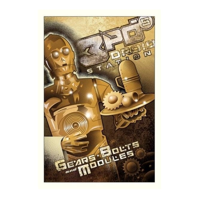 Star Wars - 3PO's Droid Station (canvas)