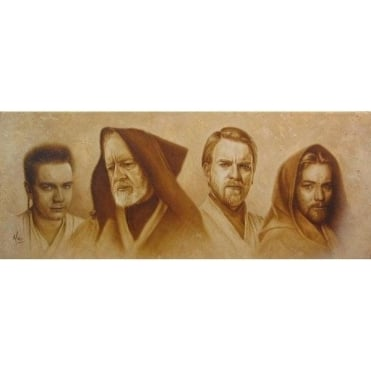 Evolution of Obi-Wan (canvas)